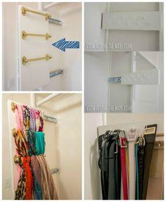 Scarf & belt slide organizer