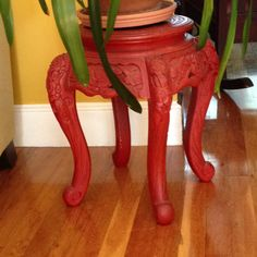 Wooden carved Chinese plant stand  $2.00 Harwich, MA