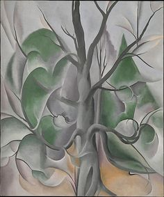 Grey Tree, Lake George, oil on canvas, 36 X 30 in., 1925, by Georgia O'Keeffe ©Alfred Stieglitz Collection/Bequest of Georgia O'Keeffe/The Metropolitan Museum of Art, NY