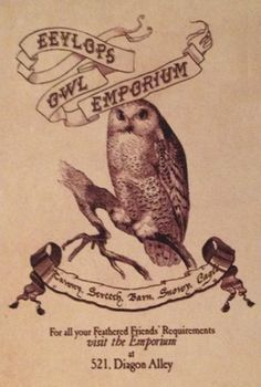 harry potter free printable owl emporium signs - Google Search
