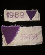 Purple Triangles/ Jehovah's Witness identification worn in Nazi prison camps