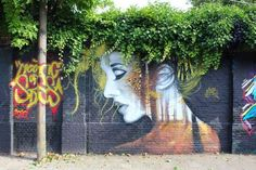 Mixing Graffiti And Trees street art.