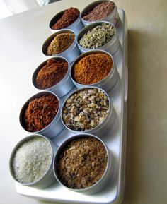 Spice Rubs for grilling and barbeque - 10 spice blends in aluminium box