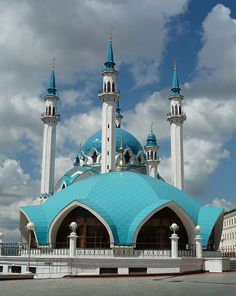 The Qolşärif mosque (pronounced [kɔlʃæˈriːf], also spelled Qol Sharif, Kol Sharif, Qol Sherif via Tatar: Колшәриф мәчете and Kul Sharif via Russian: мечеть Кул-Шариф) located in Kazan Kremlin, was reputed to be -at the time of its construction- the largest mosque in Russia, and in Europe outside of Istanbul