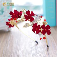 Cheap bride headpiece, Buy Quality fashion headpiece directly from China headpiece fashion Suppliers: Fashion crown girl red rhinestone hairband tiara crystal hairwear Valentine's Day gifts bride headpiece wedding accessories tumi