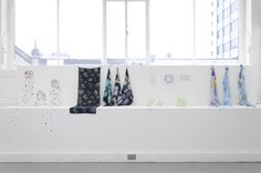 The Textiles, Fashion & Design for Performance studios during the Foundation Diploma in Art & Design End of Year Show 2014 at Leeds College of Art.