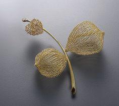 """heart"" Brooch - 18k gold, diamond sowon joo studio"