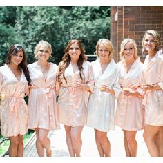 Your bridal party will look stunning in these monogrammed satin robes! 30+ colors to choose from. www.foxblossom.com