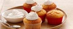 Pumpkin Angel Puffs with Spiced Whipped Cream