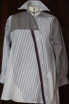 Recycled Men's Dress Shirt - Voque pattern #1274 by Lynn Mizono Tolle Auswahl bei divafashion.ch. Schau doch vorbei