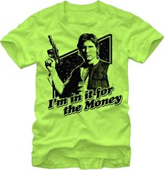 Dorkees.com - Star Wars: Han Money T-Shirt, $20.00 (http://www.dorkees.com/star-wars-han-money-t-shirt/)