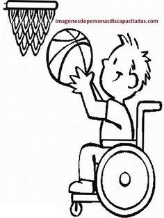 Disability Basketball Athlete Coloring Page : Kids Play Color Coloring Pages For Kids, Coloring Sheets, Coloring Books, Disability Day, Doodle People, Dandelion Wish, Online Coloring, Project 4, Kids Playing