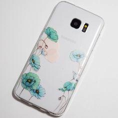 Light Blue Cosmo Flowers Samsung Galaxy S7 Edge Case