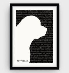 Rottweiler Art Rottweiler Print Literary Posters by GalliniDesign