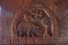 Royal emblem of Chalukyas; Varaha, Shankha, Chakra and a mirror. Chalukya Dynasty, Lord Shiva Hd Wallpaper, Hampi, History, Painting, Chakra, Waves, Indian, Fish