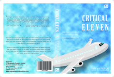 book cover design. inspirated by Critival Eleven novel by Ika Natasha