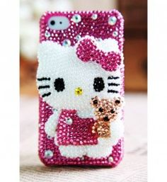 Apple iPhone iPod Touch Hello Kitty 2012 Back Case, Ipod Touch Cases, Bling Phone Cases, Cool Iphone Cases, Diy Phone Case, Cute Phone Cases, Cellphone Case, Coque Iphone 6, Iphone 4s, Apple Iphone