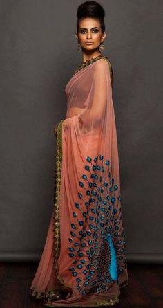 SVA Onion pink net saree with Peacock embroidered, Beautiful Indian Sarees, Indian Sari, Saris, Lakme Fashion Week, India Fashion, Ethnic Fashion, Asian Fashion, Net Saree, Lehenga Choli, Anarkali, Indian Dresses, Indian Outfits