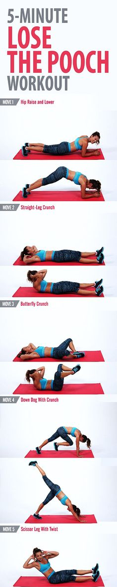 Try this quick and focused workout to tone the lower part of your abs and work off the pooch. We concentrate on the abs for five minutes and guarantee you feel the burn. You don't need any equipment, but don't forget to breathe!