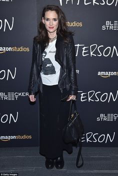 Stunning: Winona Ryder, 45, looked amazing as she walked the red carpet at Thursday's New ...
