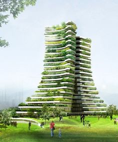 Modern Architecture House, City Architecture, Futuristic Architecture, Sustainable Architecture, Amazing Architecture, Residential Architecture, Eco Buildings, Amazing Buildings, Green Tower