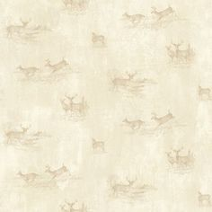 """Brewster Home Fashions Outdoors Tulip Sketched Toss 33' x 20.5"""" Deer 3D Embossed Wallpaper Color: Wheat"""