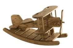Amish Childrens Toys Oak Wood Airplane Rocker If we were to have a boy. Airplane room for sure