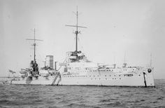 SMS Von Der Tann, date and location unknown. Scuttled at Scapa Flow on June raised in then scrapped at Rosyth in Heavy Cruiser, Capital Ship, Man Of War, Naval History, Big Guns, Navy Ships, World War One, Submarines, Aircraft Carrier