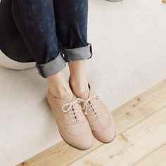 ❤ nude oxfords