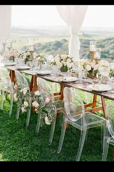 Beautiful outdoor wedding setup