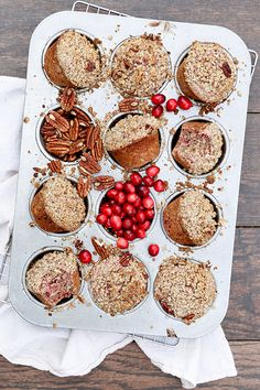 Cranberry-Pecan Muffins | www.floatingkitchen.net