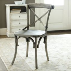 Constance Metal Dining Chairs | Ballard Designs - I want these around my farm table!