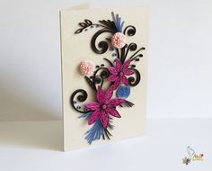 Did you ever have books about paper craft? This work is very pretty.