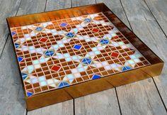 Glas mosaic serving tray
