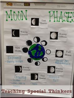 Teaching Special Thinkers: Solar System: Moon Phases Add sun and space view Mad Science, Science Lessons, Teaching Science, Science Education, Science Activities, Life Science, Science Experiments, Science Ideas, Teaching Ideas