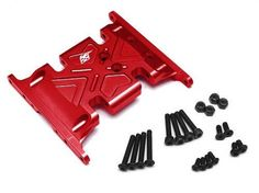Boom Racing #BR233006R Aluminum Skid Plate - 1 pc Red [RECON G6 The Fix Certified] for Axial SCX10