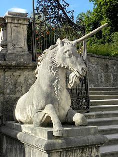 Unicorn at Mirabell Gardens in Salzburg Austria on Shutterbug Traveler. Visit Austria, Plitvice Lakes National Park, Salzburg Austria, Unicorn Art, Alps, Prague, Beautiful World, Scottish Unicorn, Vienna Christmas