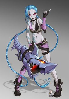 LoL Jinx Colored by EvilFlesh