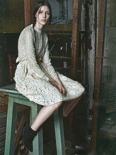 Kati Nescher by Mario Sorrenti for Vogue Paris August 2012