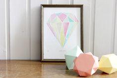 Bild mit Diamant // Diamond picture by Knallbraun via DaWanda.com