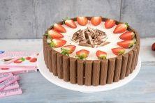 Yogurette-Torte / Erdbeer-Joghurt-Schokoladentorte