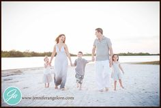 Classic Beach Family Portrait » Jennifer Angeloro Photography Blog