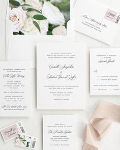 Camille Floral Wedding Invitations - Floral Wedding Invitations by Shine #weddinginvitation