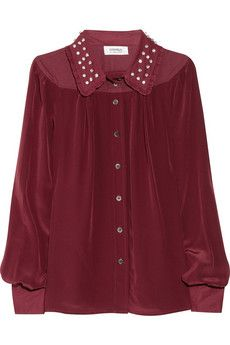 great western wine-colored blouse for fall