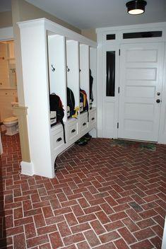 Entryways and hallways - Inglenook Brick Tiles - thin brick tile flooring, walls, ceilings