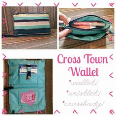Love the new Cross Town Wallet!! It can be used as a wallet, a wristlet and a crossbody!