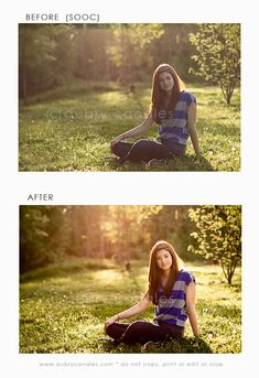 before and after - editing a photo.