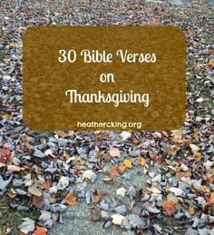 30 Bible Verses on Thanksgiving