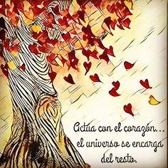 Que mejor manera de actuar que desde el corazón y confiando en el universo Feliz noche! @coachmiguelaznar 〰〰〰〰