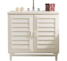 James Martin Signature Vanities Portland 36 in. W Single Vanity in Cottage White with Solid Surface Vanity Top in Arctic Fall with White Basin - The Home Depot Bathroom Vanities Without Tops, Single Sink Bathroom Vanity, Bathroom Furniture, New Furniture, Cottage White Bathrooms, Quartz Vanity Tops, Vanity Set, Bathroom Fixtures, Bathroom Storage